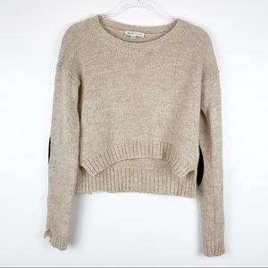See by Chloe Cropped Elbow Patch Sweater 6